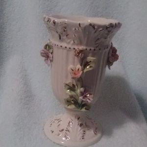 Italian made hand painted vintage vase